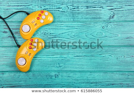 Bleu gamepad table technologie divertissement Photo stock © dolgachov