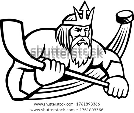 Sport mascotte icon illustratie god Stockfoto © patrimonio
