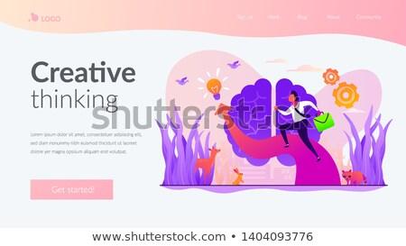 Imagination, ideas and fantasy app interface template. Stock photo © RAStudio