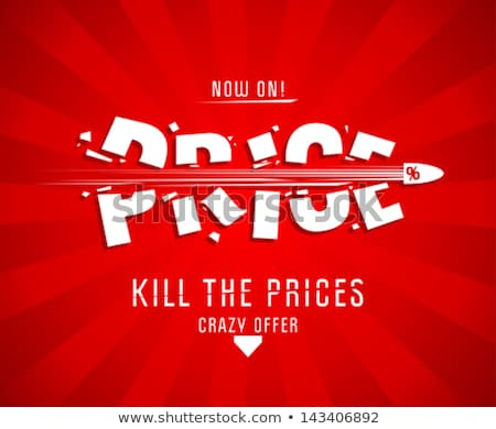 Hot Price Best Choice Posters Vector Illustration Stock photo © robuart