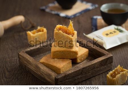 Ananás bolo Taiwan famoso sobremesa doce Foto stock © szefei