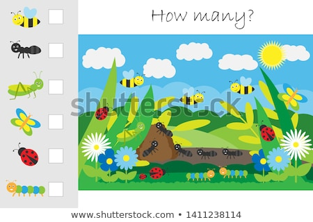 How many worksheet with many insects Stock photo © colematt