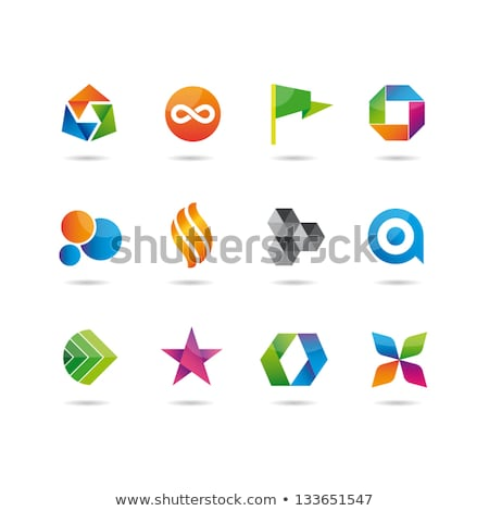 colorful cube icon vector logo symbol stock photo © blaskorizov