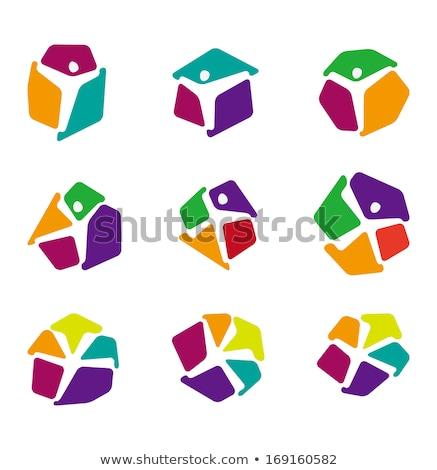 mektup · daire · logo · ikon · soyut · alfabe - stok fotoğraf © blaskorizov