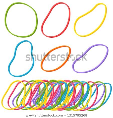 vector set of rubber bands stock photo © olllikeballoon