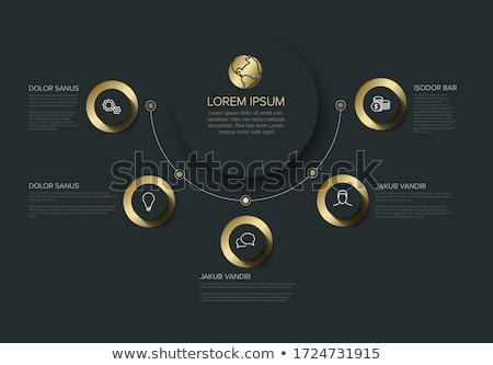 cirkel · grafiek · zes · afbeelding · pijlen · business - stockfoto © orson