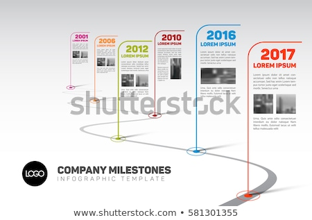 Company Infographic timeline report template with photos Stock photo © orson