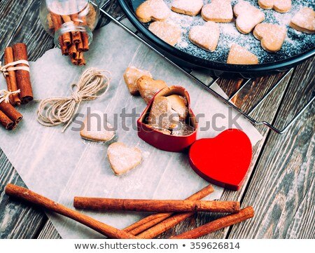 Heart Shaped Cookie Made of Gingerbread Pastry Stock photo © robuart