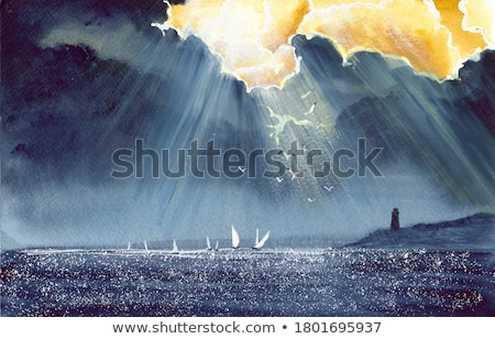 Cielo tormenta puesta de sol dramático paisaje textura Foto stock © fyletto
