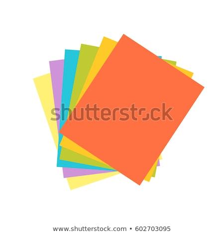 Renkli kâğıt ikon örnek iş web Stok fotoğraf © Blue_daemon