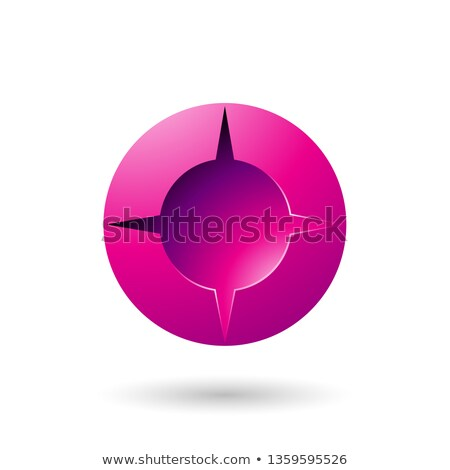 Magenta and Bold Shaded Round Icon Vector Illustration Stock photo © cidepix