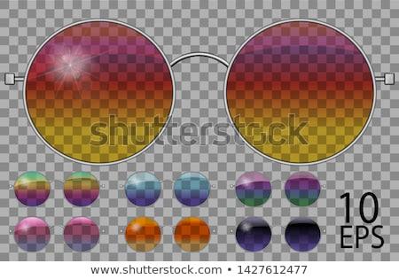 Black Retro Sunglasses, Trendy Vector 3D Shades Stock photo © pikepicture