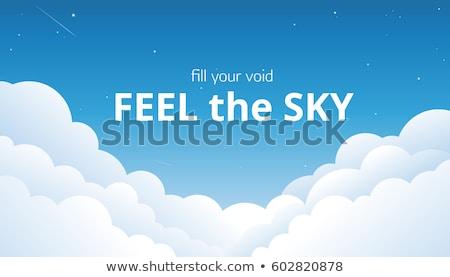 Kék ég bolyhos fehér felhők kék hátterek Stock fotó © nenovbrothers