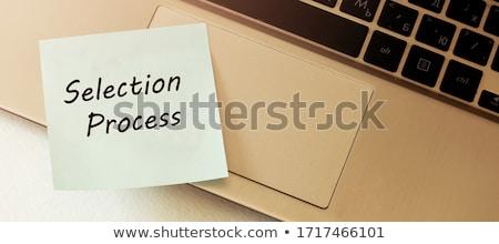 Black Chalkboard with Business Skills. 3D Rendering. Stock photo © tashatuvango