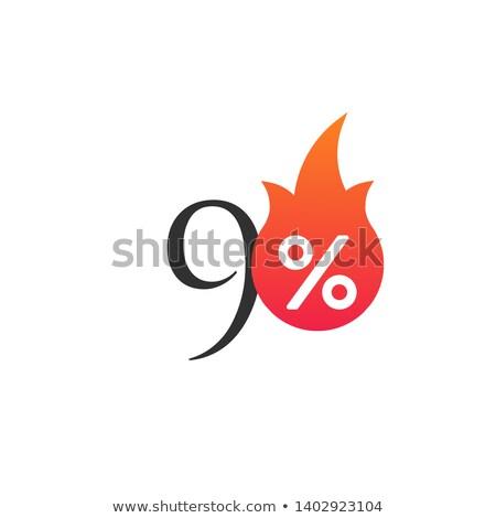 パーセント · オフ · 難 · 燃焼 · ステッカー · ラベル - ストックフォト © kyryloff