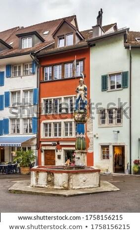 Praça Suíça fonte centro cidade edifício Foto stock © borisb17