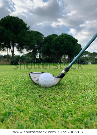 Fairway Wood Golf Club and Golf Ball on White Background Stock photo © feverpitch