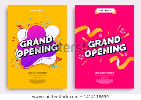 grand opening celebration flyer greeting background Stock photo © SArts