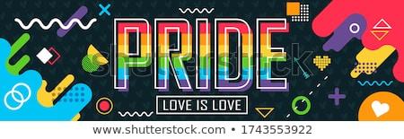 гей гордость кампания свободу вектора Сток-фото © vector1st