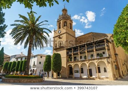 Igreja la torre relógio viajar Foto stock © borisb17