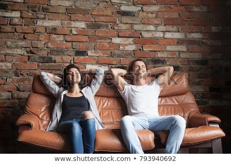 молодые женщину подростку расслабляющая сидят Сток-фото © Freedomz