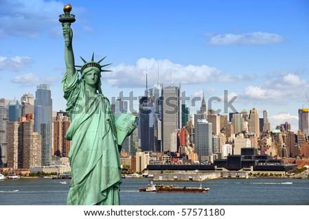 Nueva · York · Manhattan · Times · Square · horizonte · panorama - foto stock © vichie81