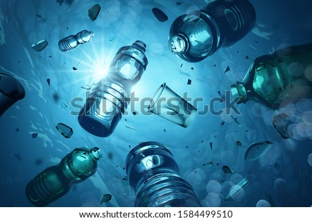Plastic Waste Floating In The Open Ocean Stock photo © solarseven