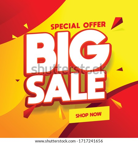 Shopping Promotion Big Sale and Discount Vector Stock photo © robuart