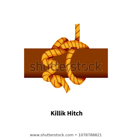 Killik Hitch sea knot. Bright colorful how-to guide on white Stock photo © evgeny89