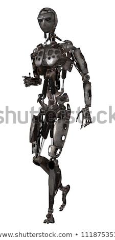 Caminando humanoide robot 3d tecnología industria Foto stock © limbi007