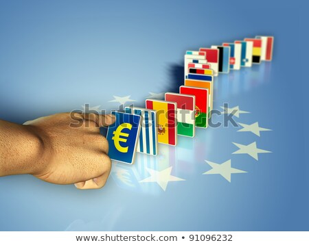 fall of Greece ,Europe and euro countries 3d illustration  Stock photo © Melvin07