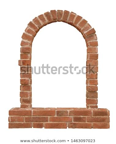 Stock photo: Stone brick arch
