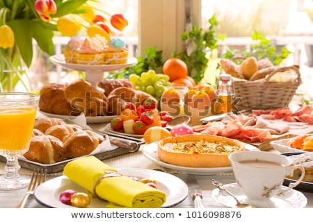 Пасху еды таблице Сток-фото © simpson33