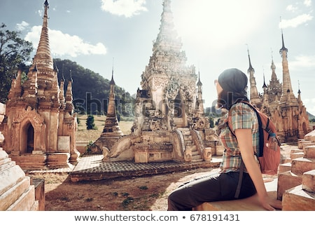Buddhist stupa in Myanmar Stock photo © bbbar