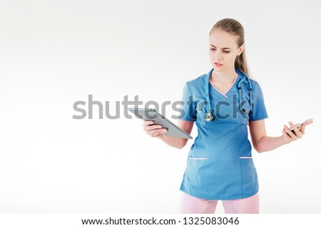 Nurse on the phone looking worried stock photo © photography33