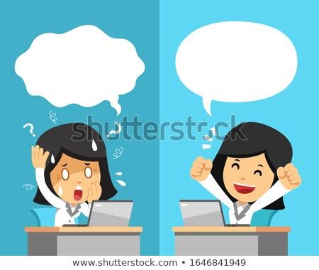 cartoon businesswoman stock photo © blamb
