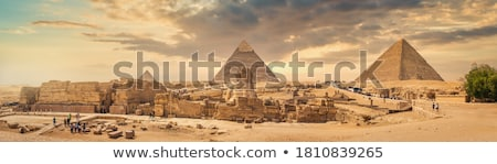 Sphinx And Pyramids Stock fotó © givaga