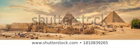 Sphinx and Pyramids Stock photo © ajlber