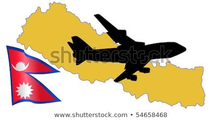Volar me Nepal mapa avión país Foto stock © perysty