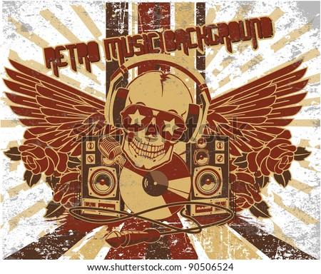 Absztrakt piros zene háttér retro mikrofon Stock fotó © lem