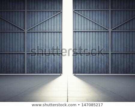 темно завода открытых дверей заброшенный интерьер свет Сток-фото © sirylok