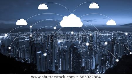 Stock fotó: Felhő · szolgáltatás · izolált · szürke · gradiens · üzlet