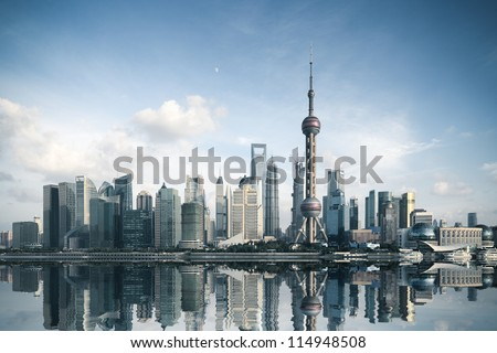 Vista Shanghai río horizonte China moderna Foto stock © travelphotography