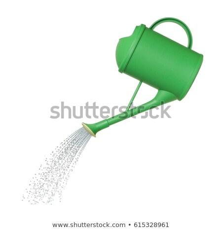 緑 じょうろ 熊手 作業 手袋 水 ストックフォト © taden