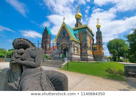 Orosz ortodox templom Németország épületek istentisztelet Stock fotó © meinzahn