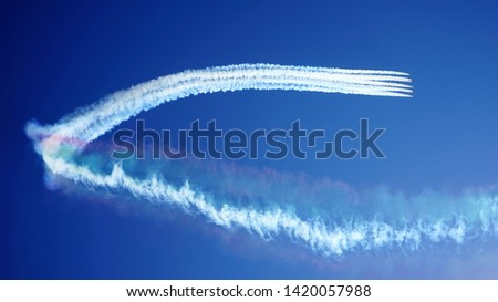 Low angle view of an airplane performing airshow Stock photo © bmonteny