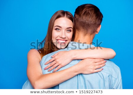 Nő ölel szerető közelkép fiatal szexi nő Stock fotó © feedough