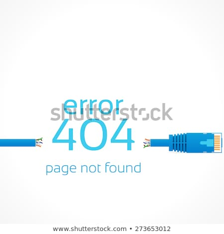 Page not found sign illustration design over white Stock photo © alexmillos