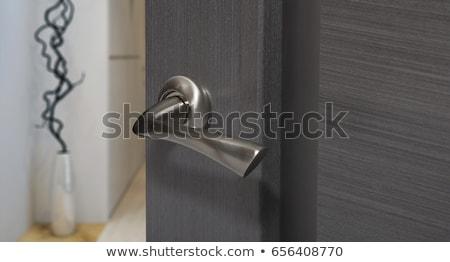 Puerta manejar madera textura fondo metal Foto stock © teerawit