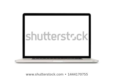laptop · isolado · branco · exibir · ver - foto stock © caimacanul